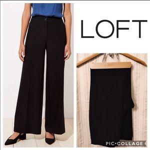LOFT High Waist wide leg trousers size 4